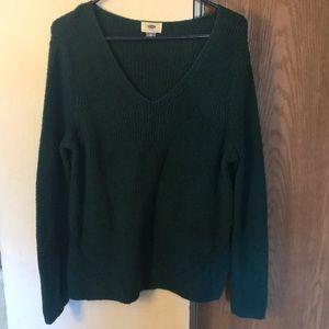Old navy, green sweater, sz XL
